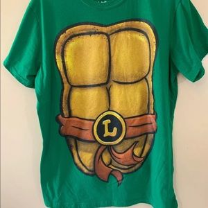 NickelodeonTMNT Leonardo T-Shirt cape XL Halloween